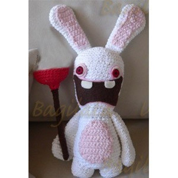 Amigurumi Nintendo Wii Raymond Rabbid Rabbit Crochet English