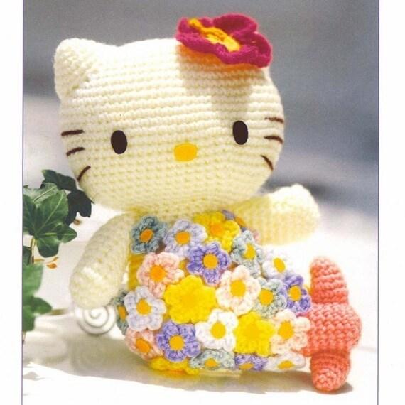 Amigurumi Sanrio Little Mermaid Hello Kitty English Crochet