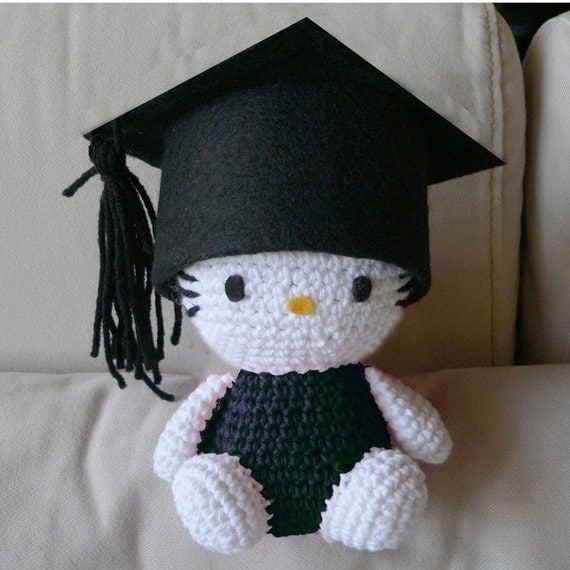 Free Pattern Crochet Hello Kitty : Amigurumi Graduate Hello Kitty School Graduation Doll Crochet