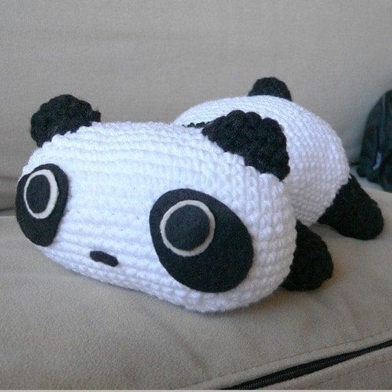 Amigurumi Panda Bear Crochet Pattern : Amigurumi panda bear animal doll crochet pattern free shipping