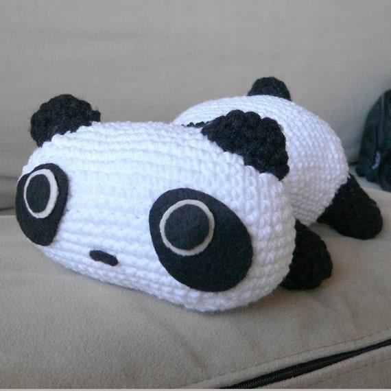 Amigurumi Patterns Panda Bear : Amigurumi Panda Bear Animal Doll Crochet Pattern Free Shipping