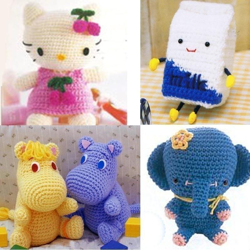 Amigurumi Elephant Hokkaido Milk Box Hello Kitty Moomin by ...