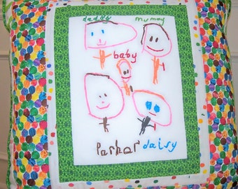 Child's Artwork Pillow or Quilt