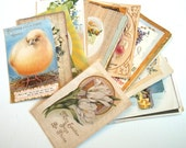 Lot of 25 Vintage 1900-1930's Easter and New Years Postcards Roses and Chicks