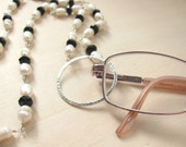 EYEGLASS CHAIN NECKLACE - FRESHWATER PEARLS AND CRYSTAL