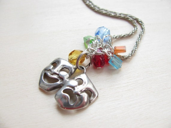 CORIANDOLI NECKLACE - SILVER AND CRYSTAL BEADS - OOAK