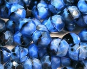 Firepolish - 8 mm Faceted Round - Lapis (25) 1756-09