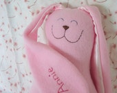 Personalized Large Snuggle Bunny in fleece