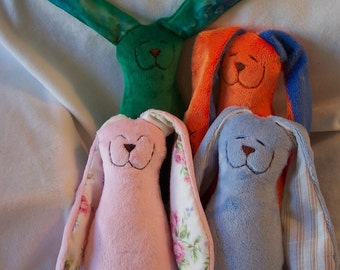 Small Minky Snuggle Bunny in your choice of colors