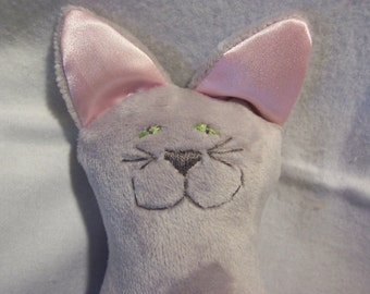 Snuggle Kitty in Grey or any solid color