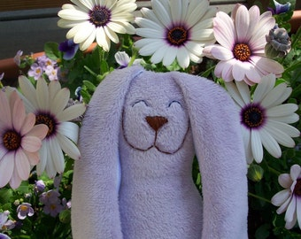 Lavender minky Snuggle Bunny