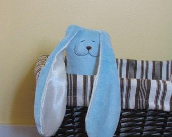 Large Blue minky Snuggle Bunny