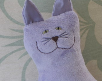 Stuffed Animal Snuggle Kitty in lavender or custom colors - large size