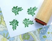 Rose Leaves Rubber Stamp