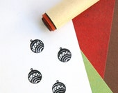 Round Ornament Rubber Stamp