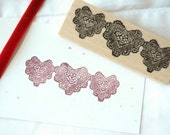Heart Doilies Rubber Stamp