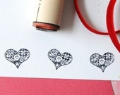 Tailor's Heart Rubber Stamp