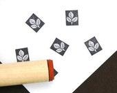 Reverse 3 Leaf Rubber Stamp