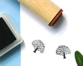 Winter Oak  Rubber Stamp