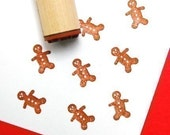 Gingerbread Man Rubber Stamp