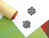 Zig Zag Ornament Rubber Stamp