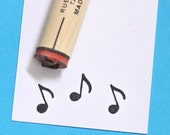 Musical Note Rubber Stamp