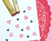 Heart Duo Rubber Stamp Set