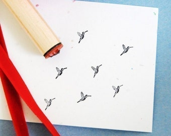 Hummingbird Solid Rubber Stamp