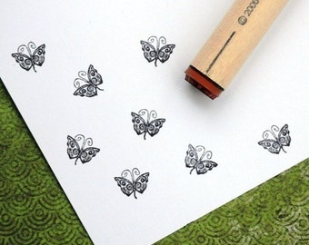 Psychedelic  Butterfly Rubber Stamp