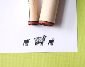 Sheep and Lamb Rubber Stamp Set