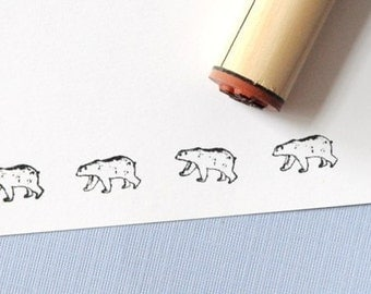 Polar Bear Rubber Stamp