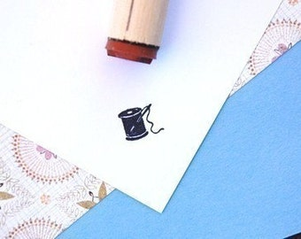 Needle and Thread Rubber Stamp