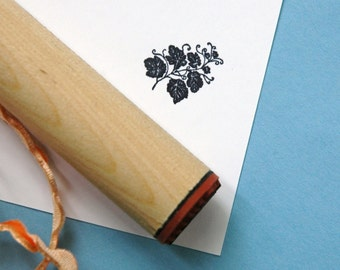 Hollyhock Vine Rubber Stamp