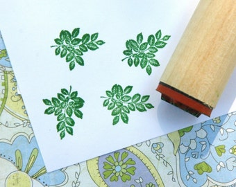 Rose Leaves Rubber Stamp