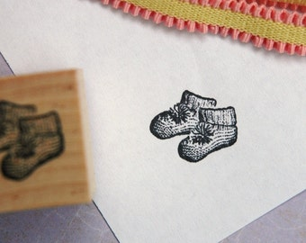 Baby Booties Rubber Stamp
