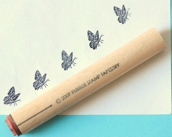 Spring Butterfly Rubber Stamp
