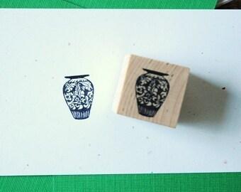 Wedgewood Porcelain Vase Rubber Stamp