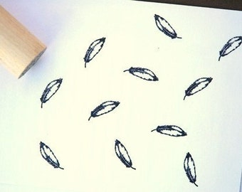 Open Feather Rubber Stamp