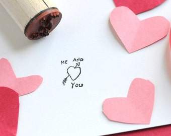 Me and You Rubber Stamp
