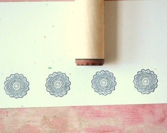 Crocheted Doily Rubber Stamp