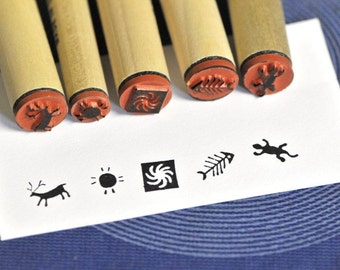 Paleo Imagery Rubber Stamp Set