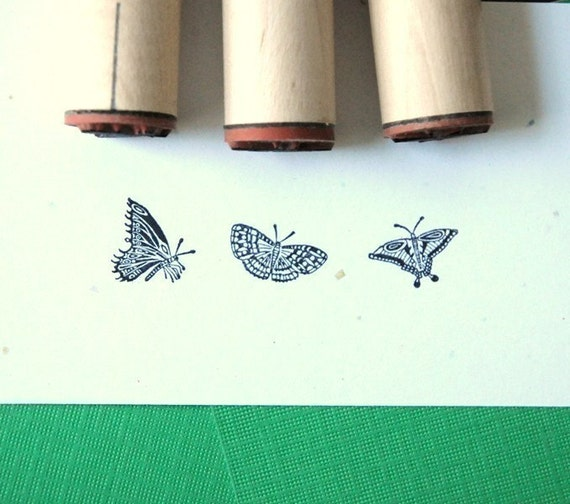 Butterfly Trio Rubber Stamp Set
