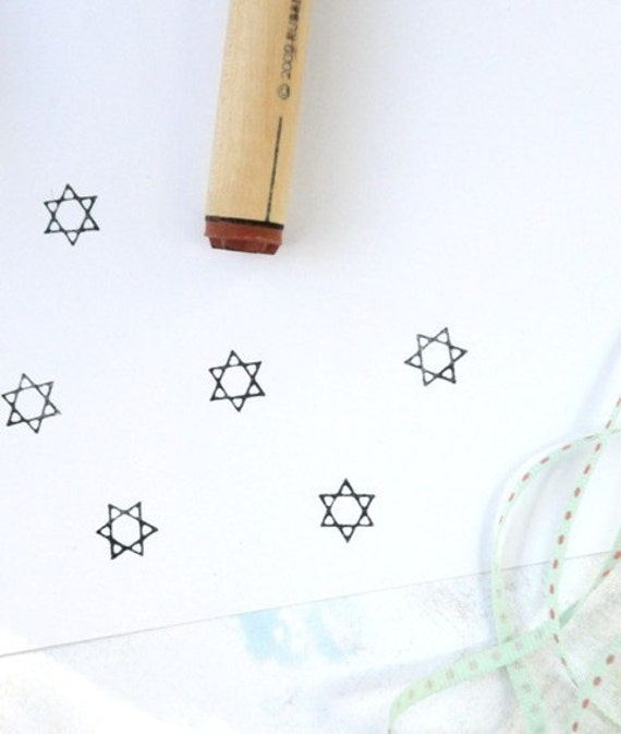 Star of David Rubber Stamp