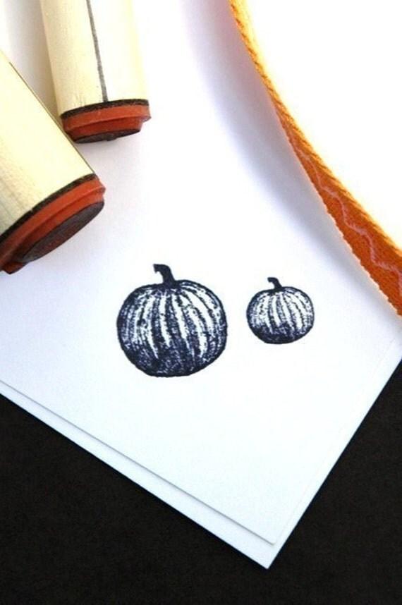 Pumpkin Duo Rubber Stamp Set