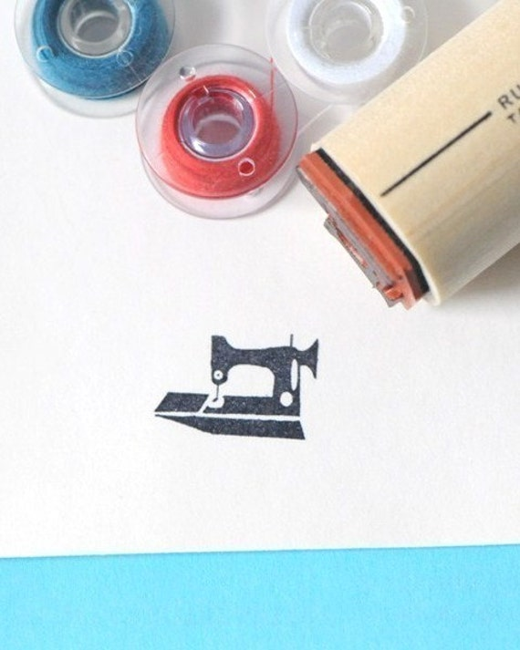 Featherweight Sewing Machine Rubber Stamp