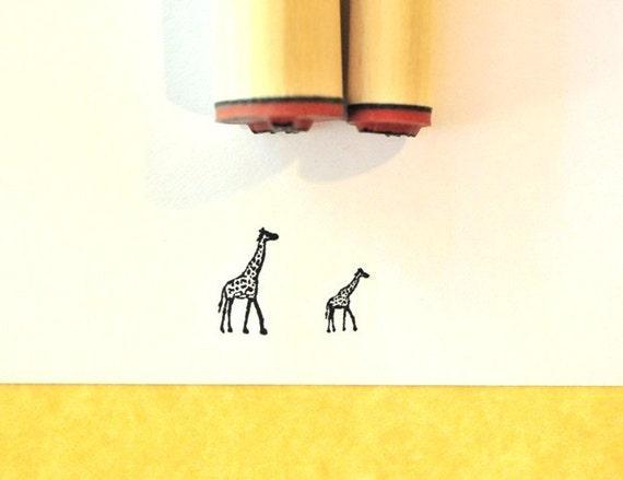 Giraffe Rubber Stamp Set