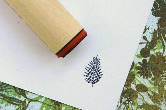 Palm Fern Rubber Stamp