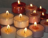 FOUR Dozen scented SOY tealights- you choose from MANY scents