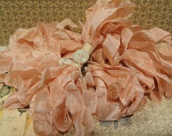 Hand Dyed Seam Binding Ribbon Vintage Pink
