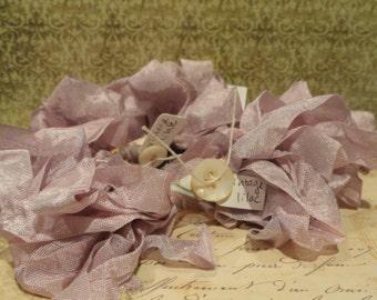 Hand Dyed Seam Binding Ribbon Vintage Lavender